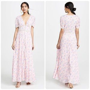 NWT LoveShackFancy Stacy Duster Maxi Dress Pink